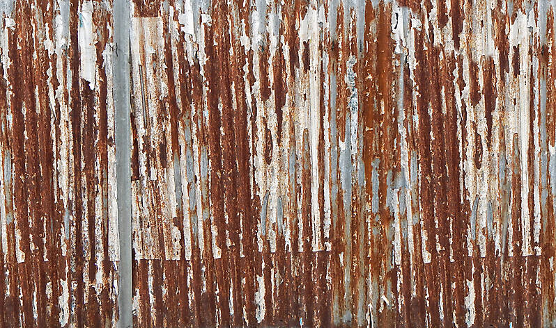 Texture Undulating Rusty Iron Panel 1 Rusted Metal