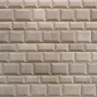 white bossage blocks wall