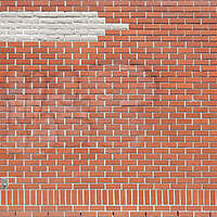 red and white bricks