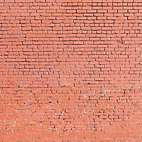 red painted bricks wall