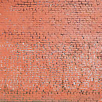 red painted bricks wall 2
