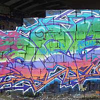 graffiti big on bricks