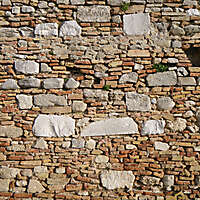 old wall tile from rome downtown 4