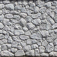irregular sized stone block wall 1