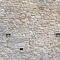 medieval stone and bricks wall