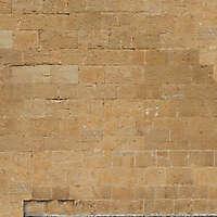 medieval yellow stone bricks wall 1
