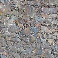 rusty rocks wall