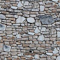 white rocks bricks wall
