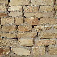 yellow stone big pices wall