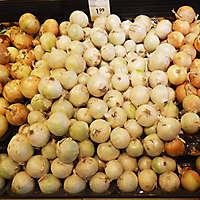 food market stall onion
