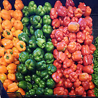 food market stall peppers