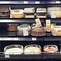 market fridge cake pies