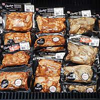 market fridge seasoned chicken