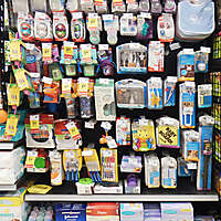 market shelves with baby things