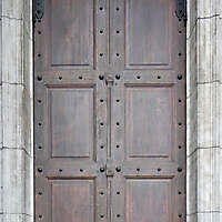 medieval door with nails