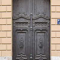 old ancient door from spain downtown 14