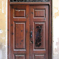 old ancient door from spain downtown 8