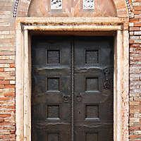 ornate bronze door