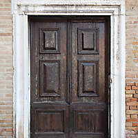 ornate wood door from venice 9