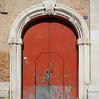 zink metal door