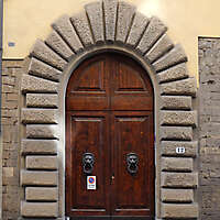 clean old style wood door 10