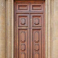 clean old style wood door 11