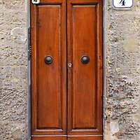 clean old style wood door 14