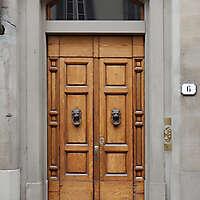 clean old style wood door 1