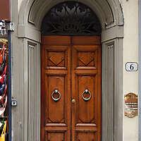 clean old style wood door 4