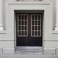 neoclassical building door