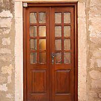 old clean decorated wood door 10