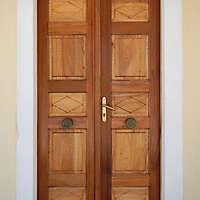 old clean decorated wood door 15