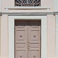 old clean decorated wood door 20
