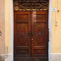 old clean decorated wood door 6