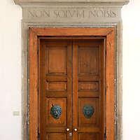 ornate wood door