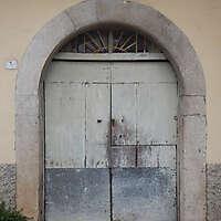 ancient very old rustic damaged door 1