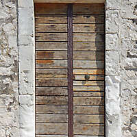 ancient very old rustic damaged door 5