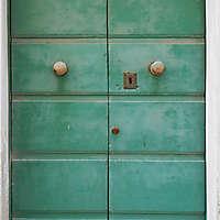 door medieval green year 1900