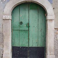 door medieval green year 1900 2