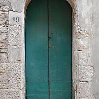 door medieval very old year 1600