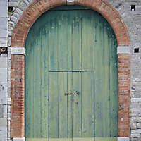 door old green
