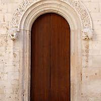 flat wood old door