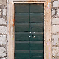 green old stile door 8