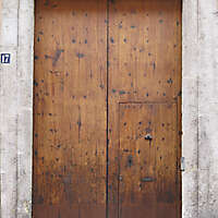 old ancient door from spain downtown 15