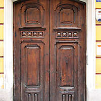 old ancient door from spain downtown 17