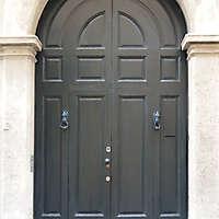 old ancient door green