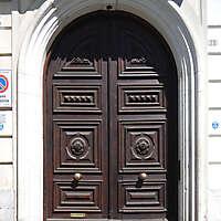 old clean decorated wood door 22
