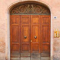old clean decorated wood door 8