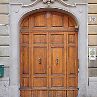 old clean decorated wood door 9
