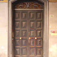old scraped wood door 3